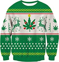 Fanient Unsiex Ugly Christmas Sweaters Funny Print Long Sleeve Pullover Sweater Jumper Sweatshirts
