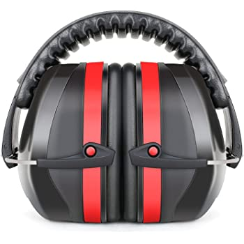 Fnova 34dB Highest NRR Safety Ear Muffs - Professional Ear Defenders for Shooting, Adjustable Ear Protection/Shooting Hearing Protector Earmuffs Fits Adults to Kids