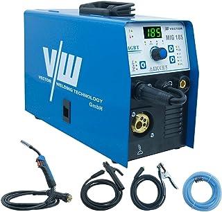 Dispositivo de soldadura de gas protector MIG MAG con electrodos de 185 amperios, 160 amperios y modo de soldadura de 180 amperios, incluye soplete MIG MAG de Vector Welding