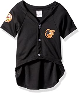 Pets First MLB BALTIMORE ORIOLES Dog Jersey, Large. - Pro Team Color Baseball Outfit