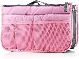 GEARONIC TM Lady Women Travel Insert Organizer Compartment Bag Handbag Purse Large Liner Tidy Bag - Pink