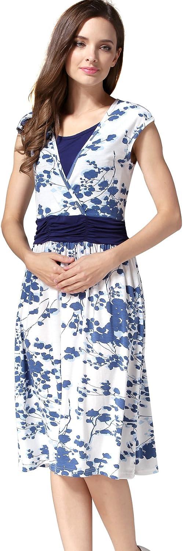 Emotion Moms Flower Maternity Clothes Breastfeeding Nursing Dresses for Pregnant Women