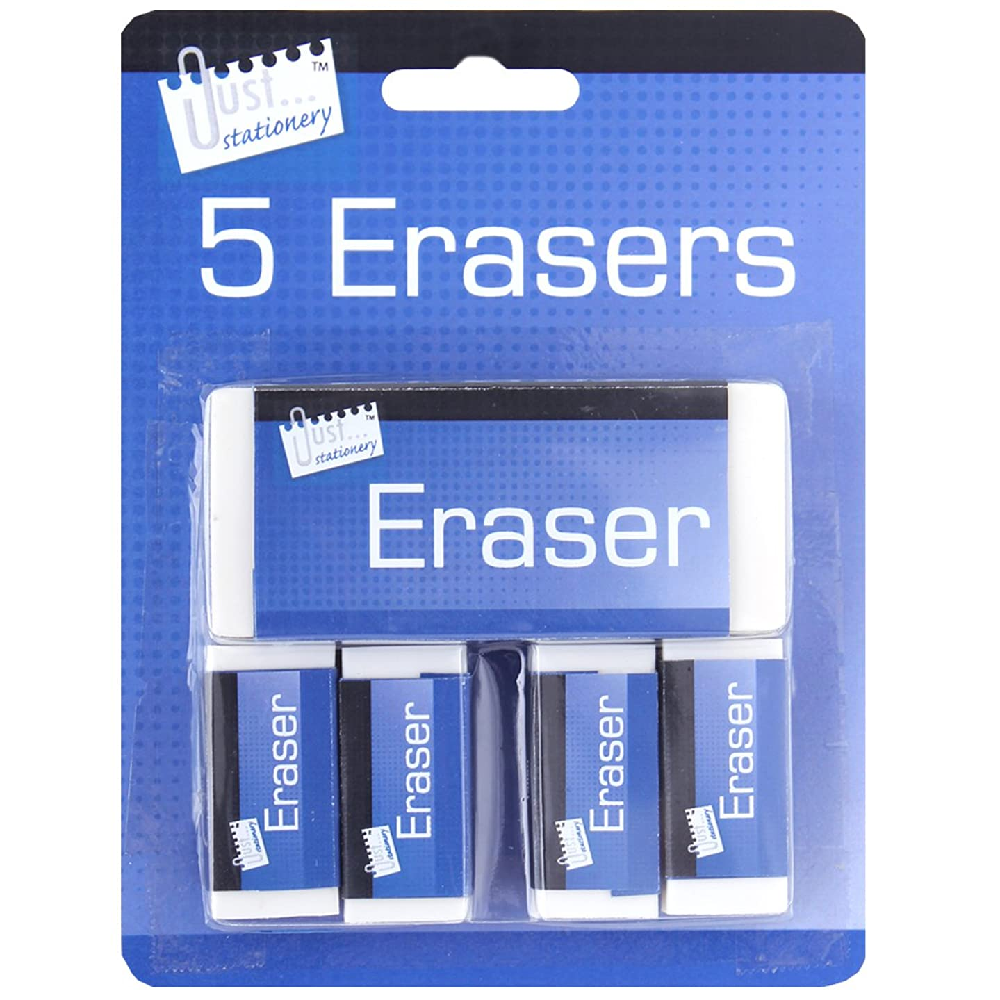 Just Stationery Eraser - White (Pack of 5)