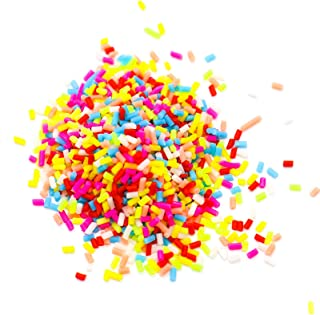 Timoo Fake Sprinkles, Fake Candy Decorations for Slime, Crafting, Clay Projects, 3.5 oz, Assorted Colors