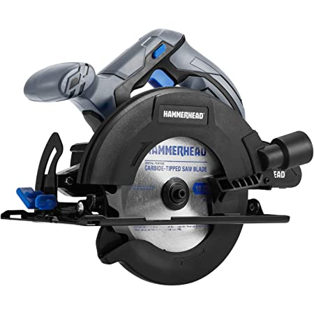 Hammerhead 20V 6-1/2 Inch Cordless Circular Saw Kit with 2.0Ah Battery, Charger, TCT Blade and Vacuum Adaptor – HCCS201