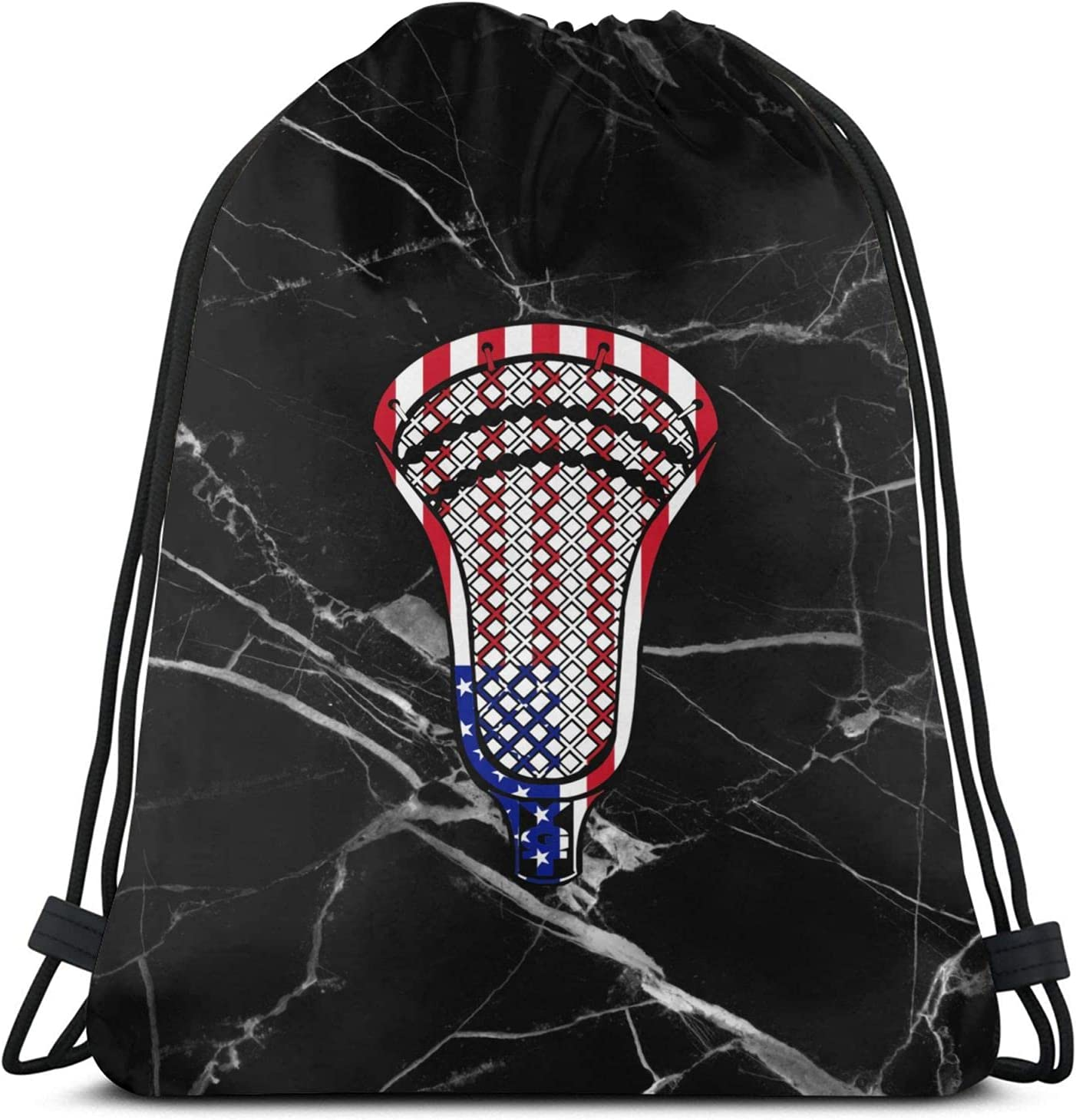 Lacrosse Head Flag Drawstring Backpack Bag Popular shop is the lowest price challenge String Gym Ba Workout Large special price !!