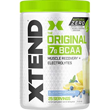 XTEND Natural Zero BCAA Powder Blueberry Lemonade   Free of Artificial Sweeteners, Flavors, and Chemical Dyes   Post Workout Drink with Amino Acids   7g BCAAs for Men & Women   25 Servings