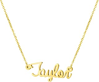 Personalized Name Necklace 18K Gold Plated Stainless Steel Pendant Jewelry Birthday Gift for Girls