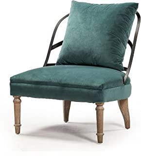 Couturier's Lounge Occasional Chair in Peacock Blue