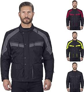 Viking Cycle Motorcycle Jacket for Men, Gray, Medium
