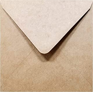 5-1/2 x 5-1/2 Square Kraft Envelopes Flapflop (100 Pcs) - Best for Thank You Notes, Greeting Cards, Weddings, Invitation |...