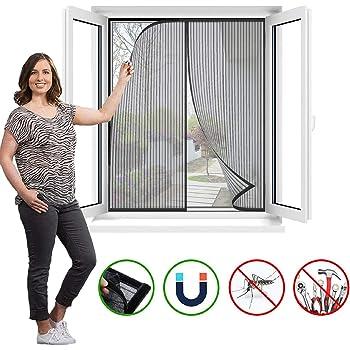 Schermata della finestra Zanzariera Magnetica zanzara Velcro Fotogramma Intero Magnetic Insect Door Screen Sipario per Porte Rete Super Fine Zanzariera Magnetica per Porte-70x150cm 28x59pollice -B