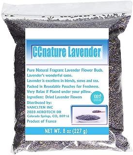 CCnature Organic Lavender Flowers Dried Lavender Buds Culinary Grade 8oz