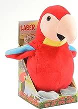 """Kögler 75631 - Laber Papagei """"Paul"""", Labertier mit Aufnahme- und Wiedergabefunktion, plappert alles witzig nach und bewegt sich, ca. 17,5 cm groß, ideal als Geschenk für Jungen und Mädchen"""
