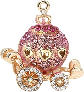 Creative DIY Pink Pumpkin Carriage Charms Pendants Wholesale (Set of 3) MH218