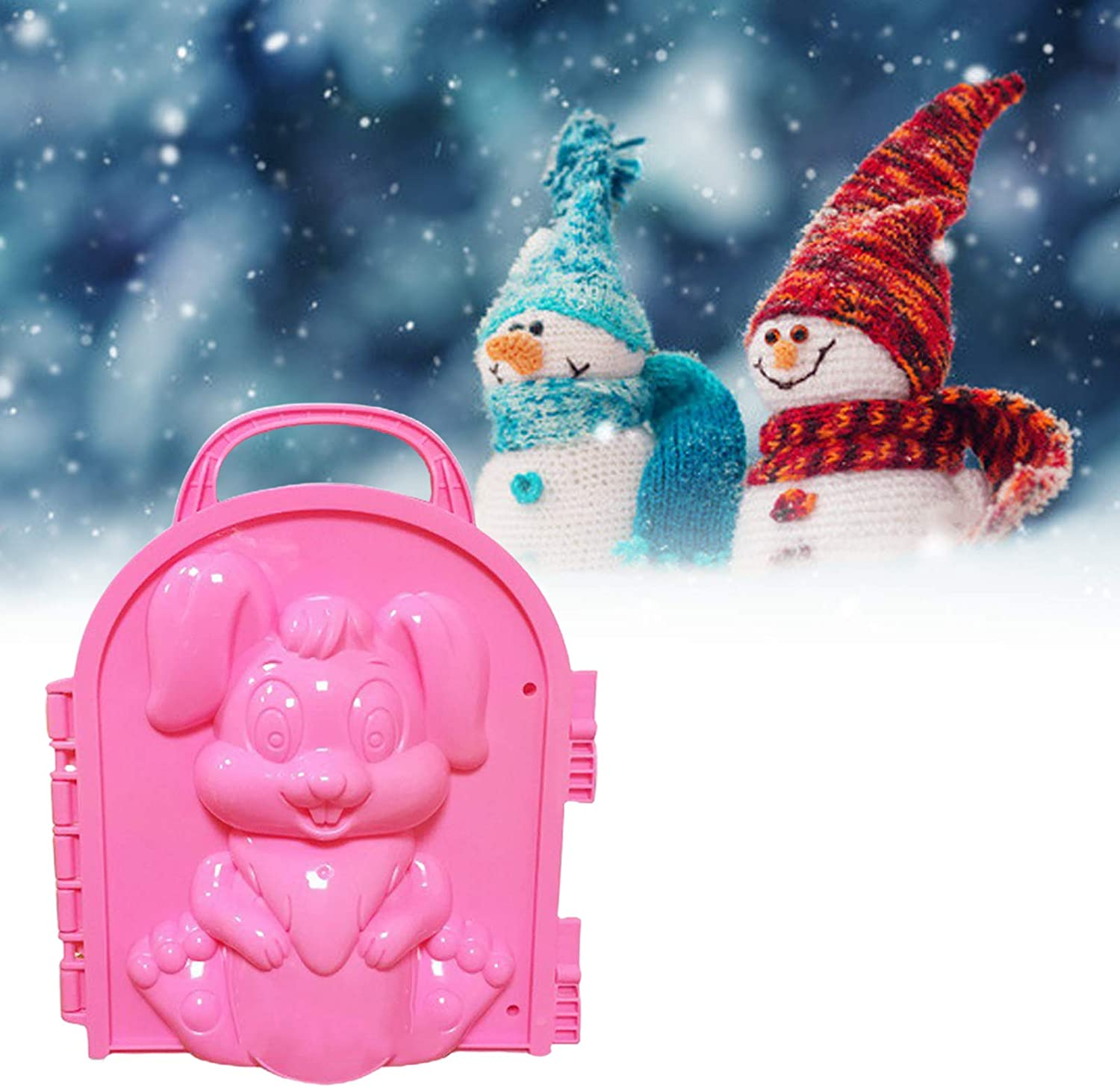 NarutoSak 1Pc Snowball Clip Toys,Winter Snowman Penguin Snowball Maker Clip Snow Mold Tool for Kids and Adults Snow Ball Fights Random Color Penguin