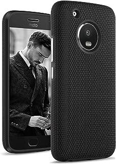 DOMAVER Moto G5 Plus Case, Shockproof 2 in 1 Slim Hybrid Hard PC Soft TPU Dual Layer Anti-Slip Protective Cell Phone Case Cover for Motorola Moto G5 Plus (2017) - Black