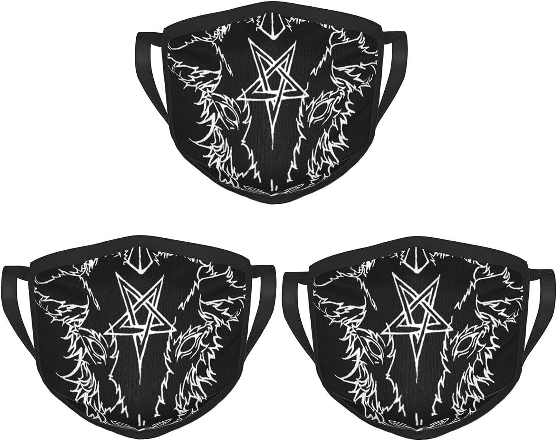 Balaclava Earmuffs Satanic Evil Art Black Metal Occult Symbols Face Mouth Cover Mask Reusable Windproof Scarf Towel Cover Headwrap