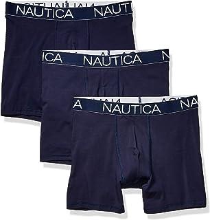 NAUTICA Men's 3-Pack Classic Underwear Cotton Stretch Boxer Brief