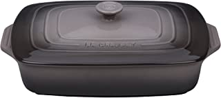 Le Creuset PG1148S3A-327F Stoneware Covered Rectangular Casserole, 12.5 by 8.5-Inch, Oyster