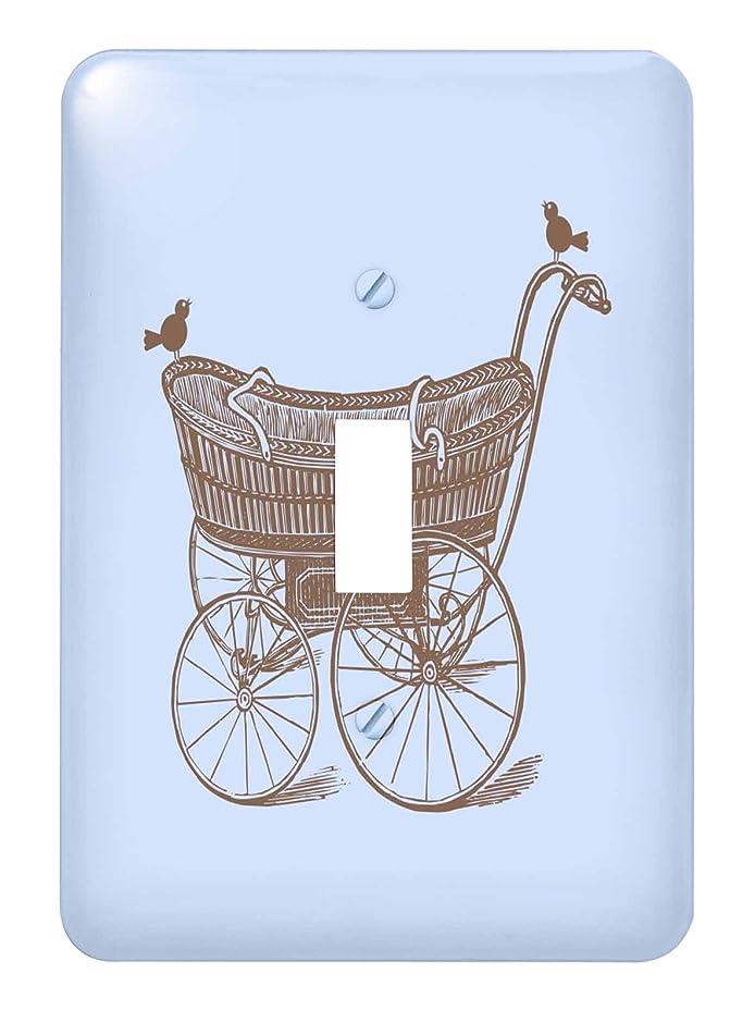 としてヒューム大使3drose LSP _ 219370?_ 1?Vintage Baby Carriage With Birds Inベビーブルーとブラウン?–?Single切り替えスイッチ