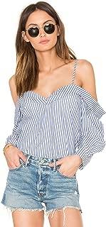 Bardot Poloma Stripe Top Womens Size 6/S Blue White