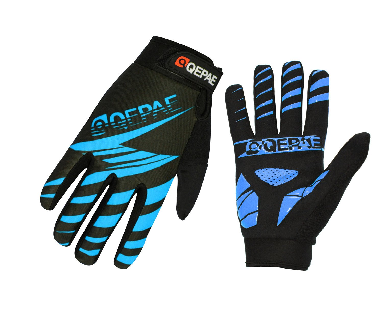 Lerway Guantes Gimnasio Deportivos Ciclismo Gloves Completo Dedos para Bicicleta Bici Moto Unisex Protección las Palmas (Azul, L): Amazon.es: Coche y moto