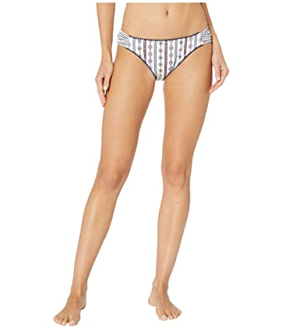 Jessica Simpson Moroccan Stripe Side Shirred Hipster Bottoms (White Multi) Women