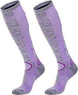 Ski Socks Mens Womens Winter High Performance Skiing Snowboarding Outdoor Sport Socks (2 Pairs)