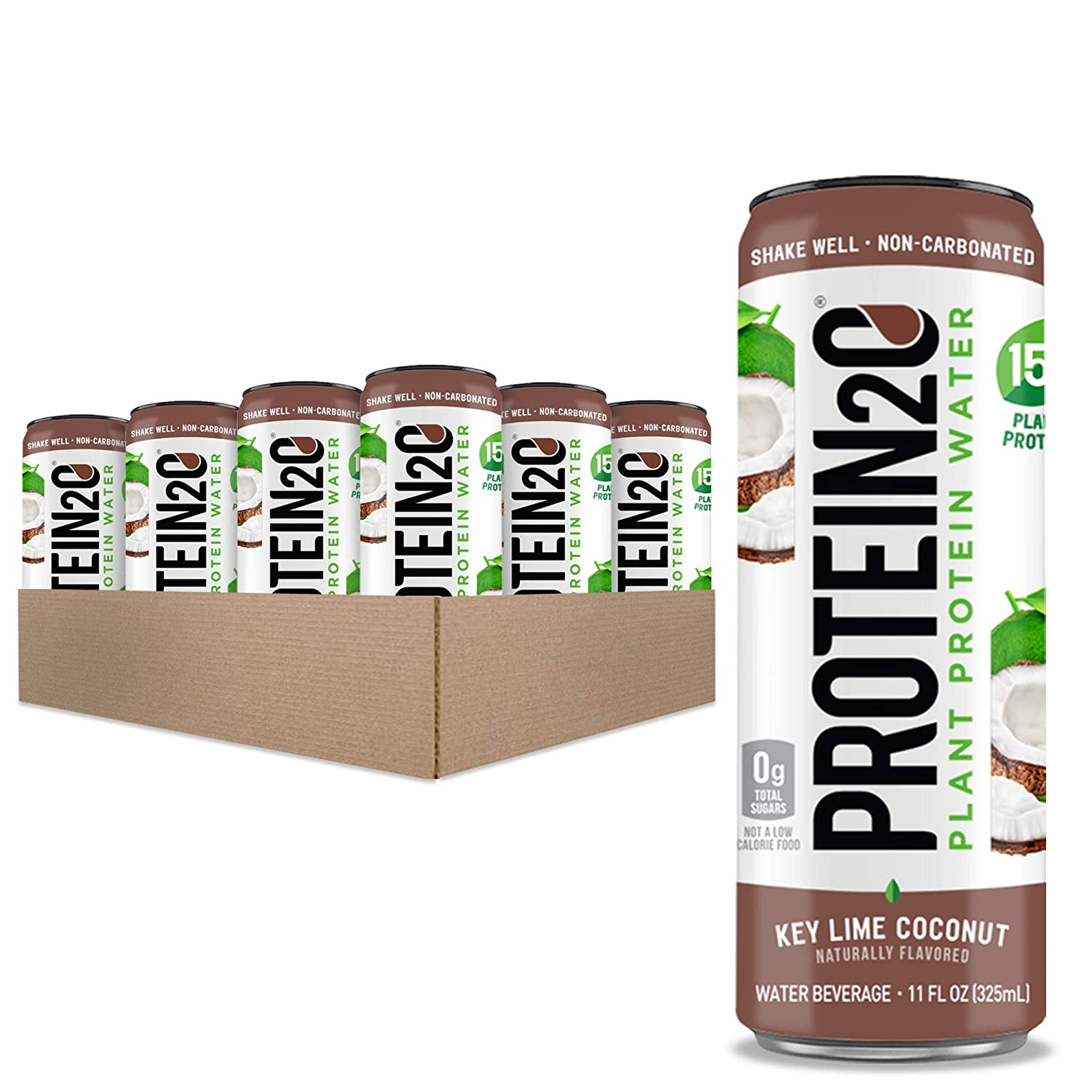 Protein2o 15g service Mesa Mall PlantBased Protein Drink Cans C Key Count Lime 12