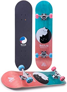 """Arcade Pro Skateboard 31"""" Standard Complete Skateboards Professional Complete Board w/Concave - Skate Boards Great for Beginners, Adults, Teens, Youth & Kids"""