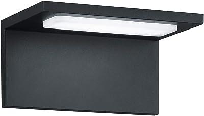 TRIO, Applique, Trave incl. 1 x LED,SMD,6,5 Watt,3000K,700 Lm. Acryl, Blanc, Corps: Fonte daluminium, Anthracite L:17,0cm, L:13,0cm, H:8,5cm IP54,Montage au mur