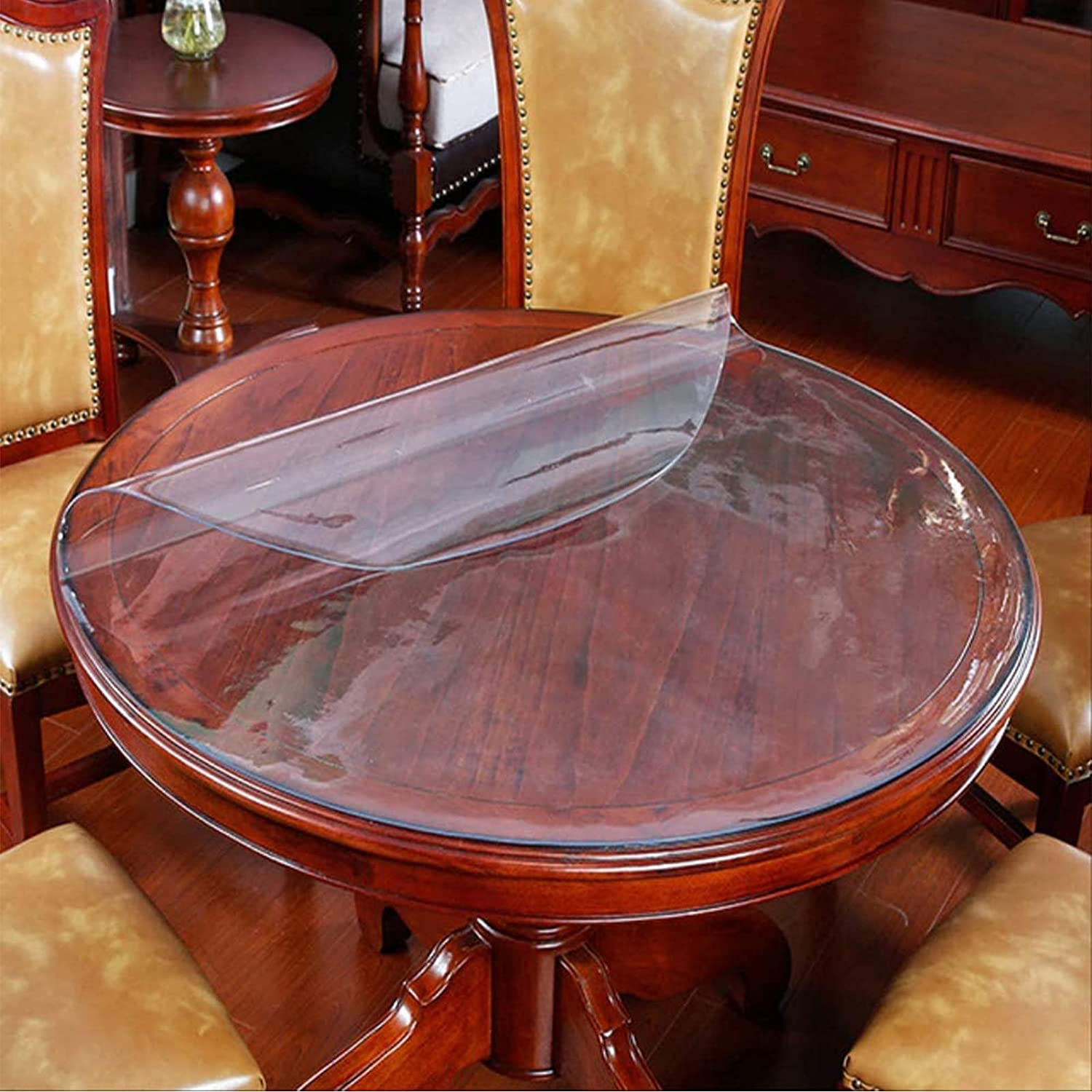 GXGX Clear Plastic Tablecloth Covers Pad Round Challenge Popularity the lowest price Transparent Table