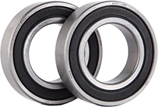 XiKe 2 Pcs 6007-2RS Double Rubber Seal Bearings 35x62x14mm, Pre-Lubricated and Stable Performance and Cost Effective, Deep Groove Ball Bearings.