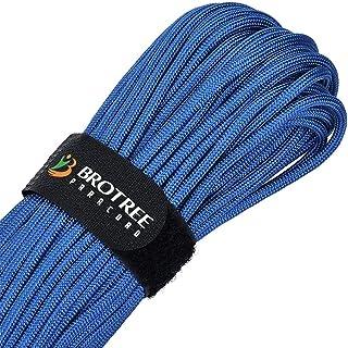 Brotree Paracord Schnur 550 Nylon Seil mit 9 Strängen Fallschirmschnur Reißfestem Kernmantel Seil 280KG Bruchfestigkeit Standard, Reflektierende