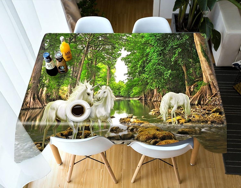 LWF Europäische Tischdecke Rechteckige Tischdecke - 3D personalisierte Tischdecke PG01080 - umweltfreundlich und geschmacklos - Digitaldruck wasserdicht (größe   Rectangular -228cm396cm) B07D5Z73ZR Primäre Qualität      Preiszugeständnisse