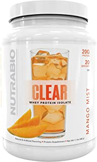 NutraBio Clear Whey Protein Isolate – Refreshing Fruity Flavors (Mango Mist)