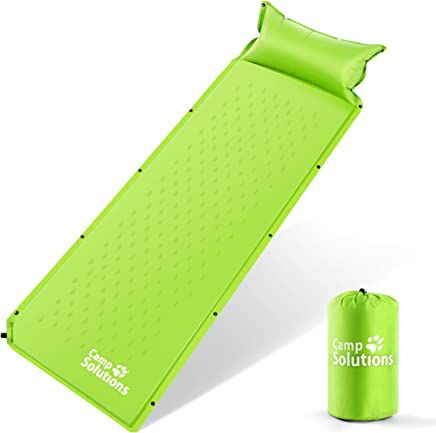 Camping Solutions Self-Inflating Sleeping Pad With Pillow...