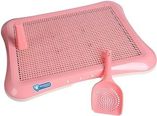 Saim Pet Toilet Dog Cat Potty Training Pad Supplies Urinal Grid Mat Dog Urinal Mesh Training Tray Durable, Pink Mesh Grid ...