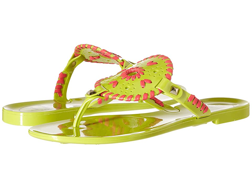Jack Rogers Georgica Jelly (Lime/Bright Pink) Women
