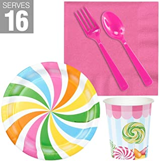 BirthdayExpress Carnival Candy Shoppe Party Supplies - Snack Party Pack