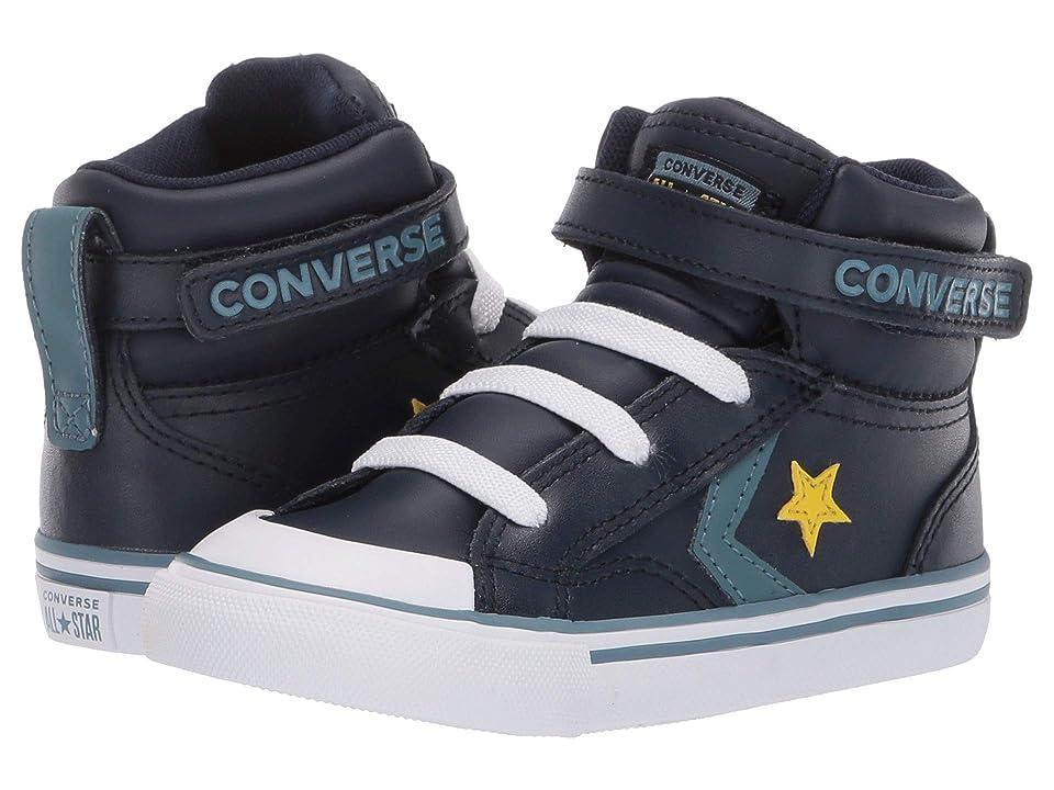 Converse Kids Pro Blaze Strap Hi (Infant/Toddler) (Obsidian/Celestial Teal/Bold Citron) Boy