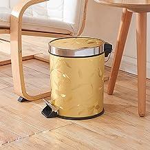 AINIYF Round Trash Can Wastebasket, Garbage Container Bin for Bathroom, Powder Room, Bedroom, Kitchen, Craft Room, Office ...