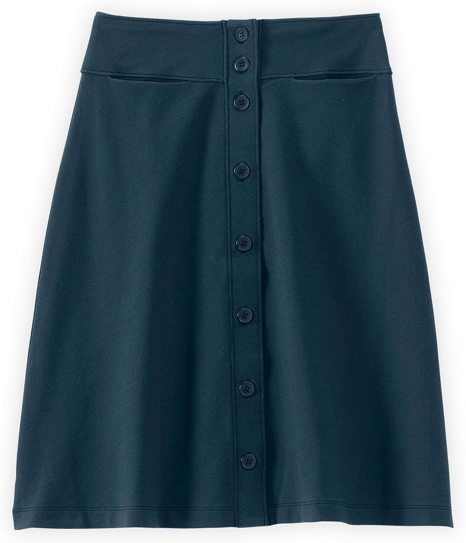 Fair Indigo Fair Trade Organic Button Front Skirt