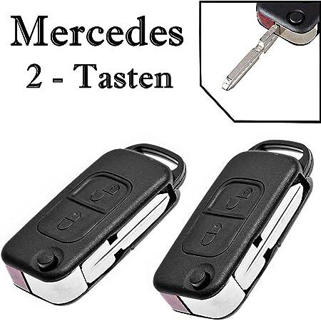 Jurmann 2x Mercedes Benz Schlüssel Gehäuse Fernbedienung Klappschlüssel Ks01no W168 W202 W203 S202 S203 C208 A208 W124 W210 A124 C124 S124 W210 S210 W460 W461 W463 W163 W140 C140 R129 R170 638 2