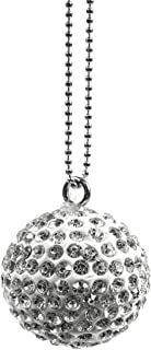 3 Glass Crystal Round Christmas Tree Hanging Baubles Sparkle Xmas Decoration