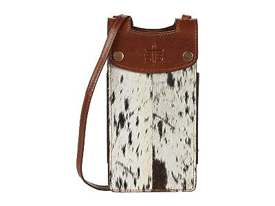 STS Ranchwear Cowhide Cell Phone Crossbody (Cowhide/Tornado Brown) Handbags