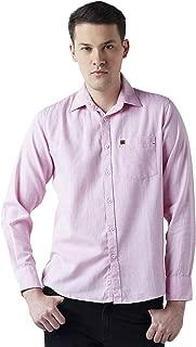 Crimsoune Club Pink Solid Men's Shirt