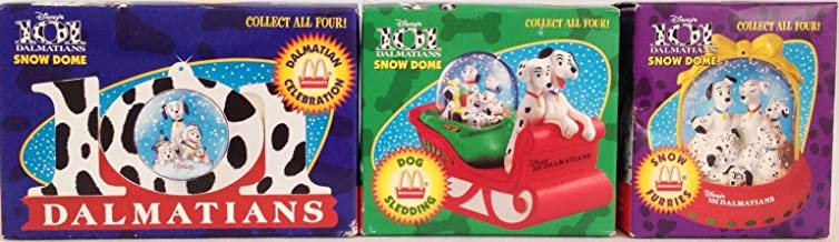 Vintage 101 DALMATION CHRISTMAS SNOW DOME Collection (1996/New)