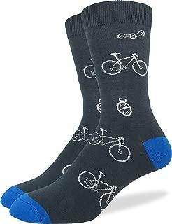 Men's Bicycle Crew Socks,Large (Shoe size 7-12),Grey